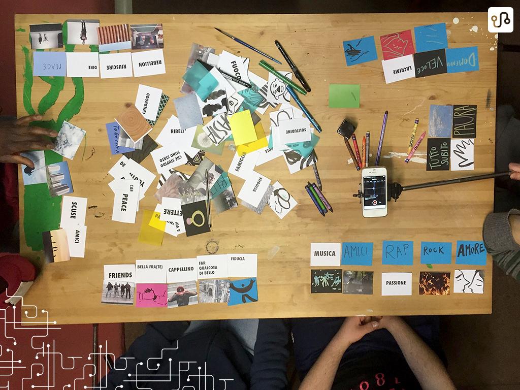 Atividade Dalle parole alle imagini, para criação do storyboard do vídeo (Foto - Progetto Camp US)