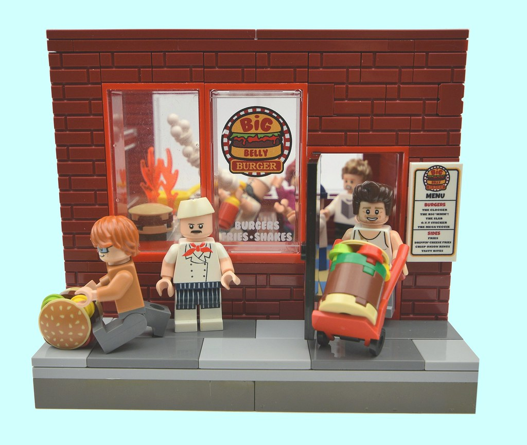 The BIG Belly Burger Joint. (custom built Lego model)