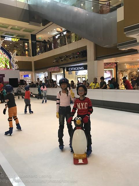 Ice skating at Novena Square