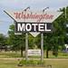 Washington Motel sign, 23 June 2016