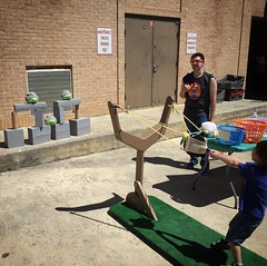 Angry Birds sling shot game I made for the Scobee Carnival in action.