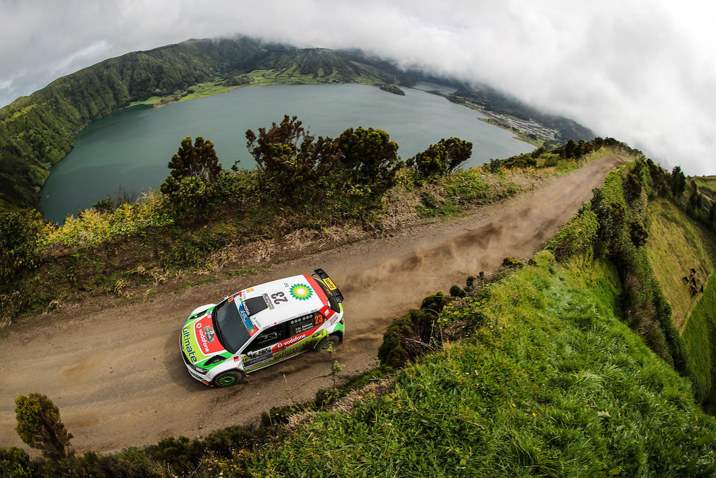 23 BARBOSA Miguel RAMALHO Miguel  Skoda Fabia R5 Action during the 2017 European Rally Championship ERC Azores rally,  from March 30  to April 1, at Ponta Delgada Portugal - Photo Jorge Cunha / DPPI