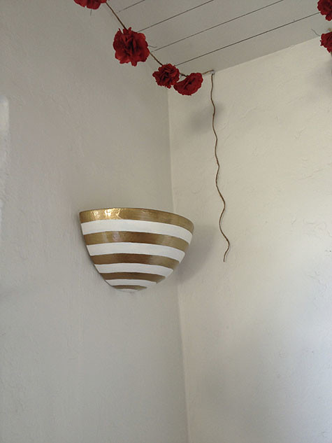 Striped Sconce