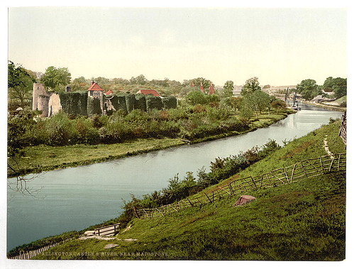 [Allington Castle and river, near Maidstone, England]  (LOC) by The Library of Congress