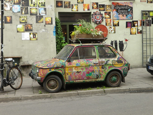 Polski fiat à Kazimierz, Cracovie - Photo de Bogarago1@Flickr
