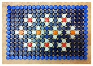 plastic bottle top mat
