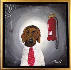 Dog (acrylic on canvas)