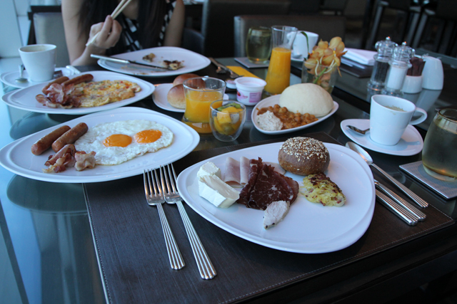 Stuffing in as much breakfast buffet as possible!