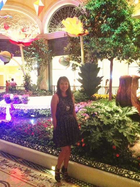 At the Bellagio Conservatory and Botanical Gardens