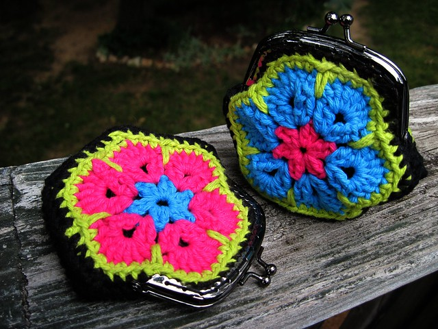 African Flower Coin Purses~Finished
