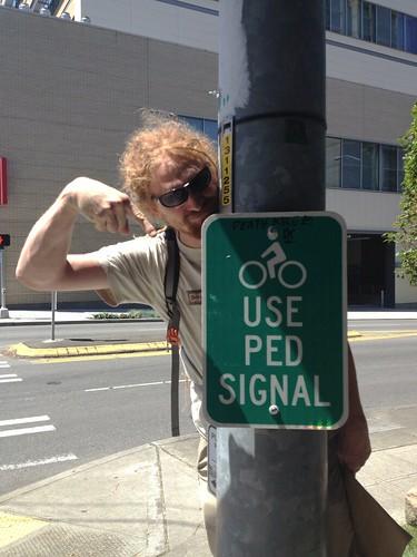 bikes use ped signal