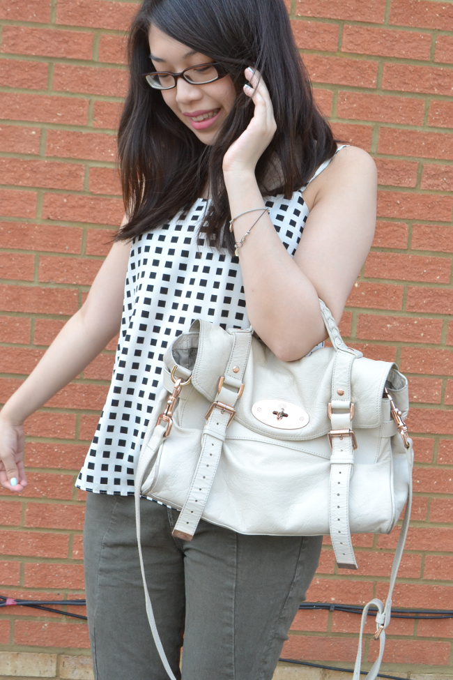 Daisybutter - UK Style and Fashion Blog: mulberry alexa in petticoat white, river island swing cami