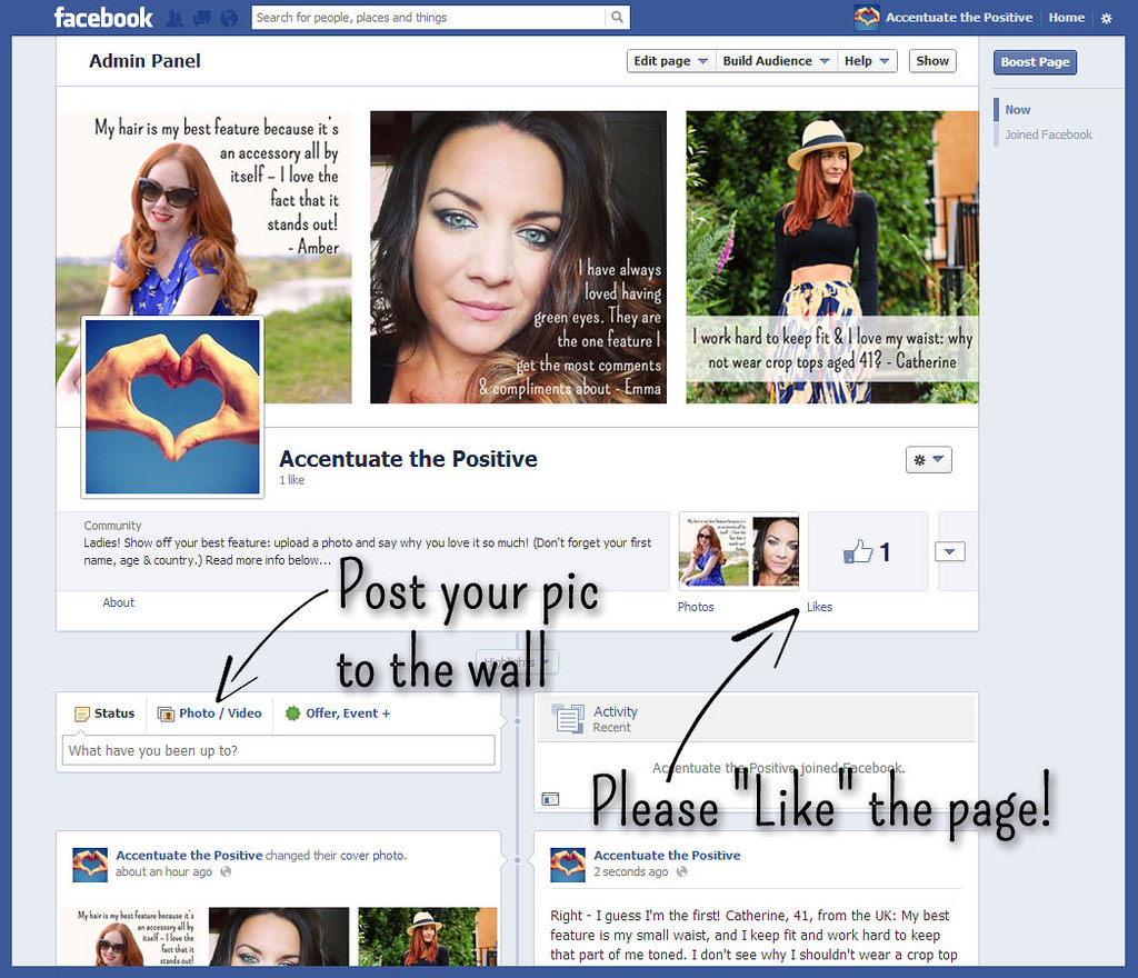 Screenshot - Accentuate the Positive Facebook page