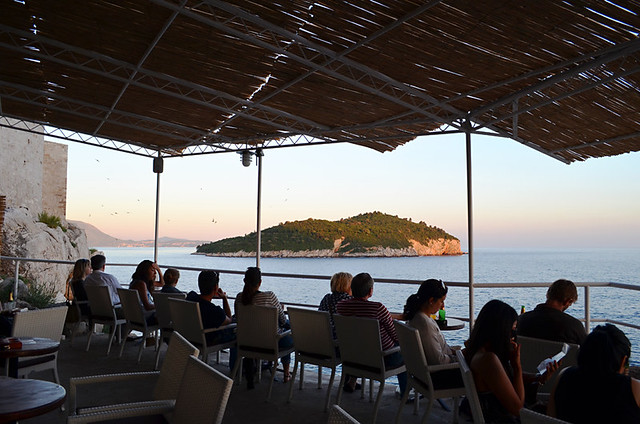 Waiting for Sunset, Café Buza, Dubrovnik, Croatia