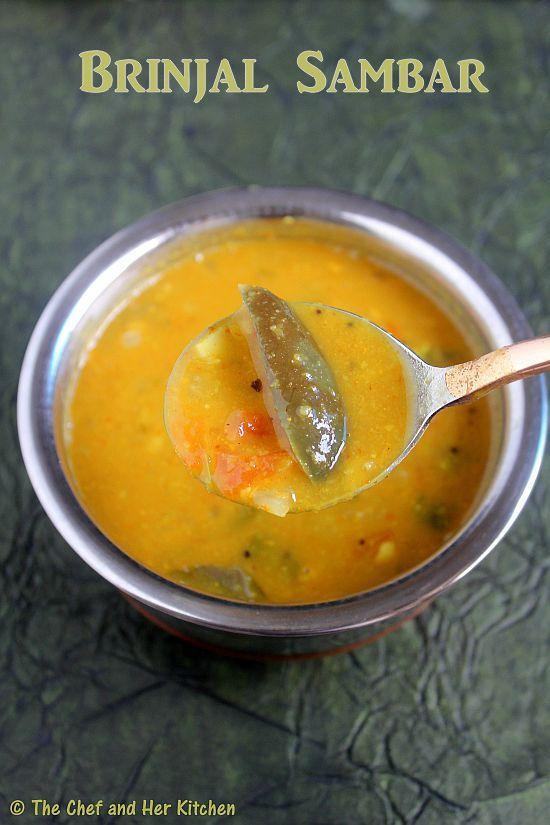 Brinjal Sambar Recipe | Vankaya(Kathirikai) Sambar | South Indian Sambar Recipe