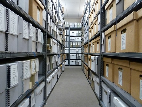 Virginia Mennonite Conference Archives shelves, Harrisonburg, Virginia by MennoniteArchivesofVirginia