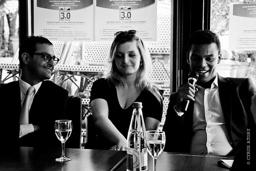 "Arash Derambarsh, Cécile Bianconi et Yassine Bouzrou avec le Club ""Courbevoie 3.0"" by Arash Derambarsh"
