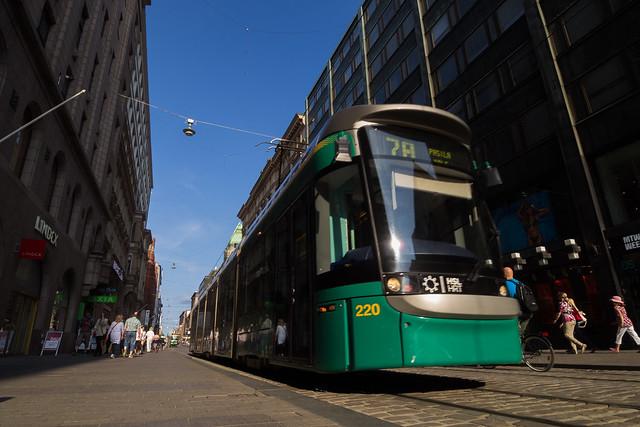 tram through the street