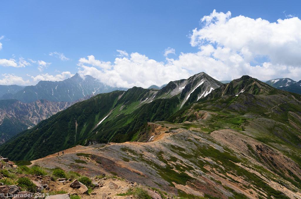 20130811 槍ヶ岳と鷲羽岳