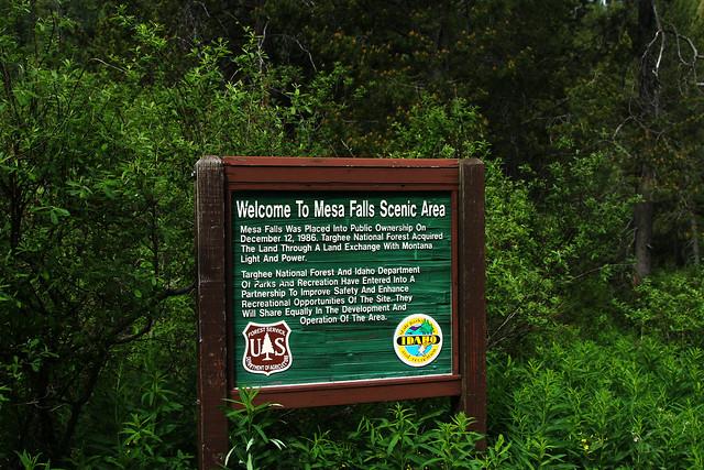 Mesa Falls Sign