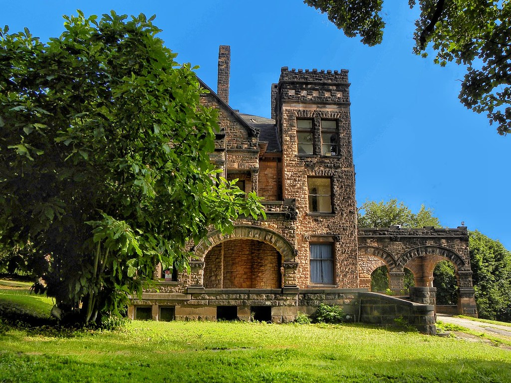 Sharon PA ~ Victorian Stone Mansion on The Hill ~ Abandoned