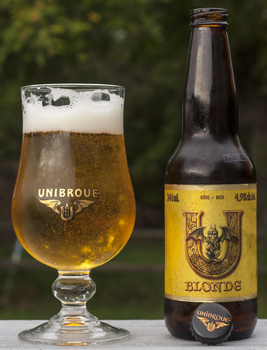 Review: Unibroue U Blonde (lager) by Cody La Bière