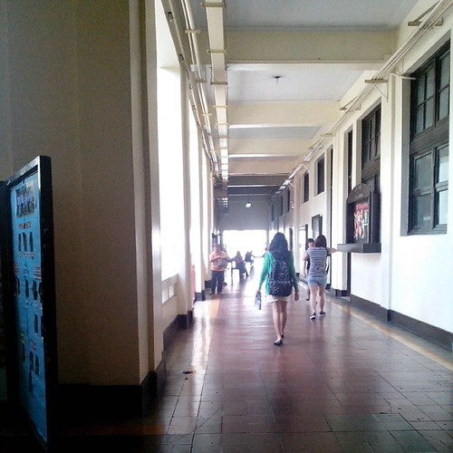 Flashback Friday and grad school memories: Back at the hallway of UPD Benitez Hall.