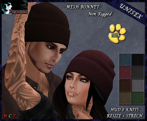 P Jess MESH Bonnet ~8 Knits~ 100% Donation