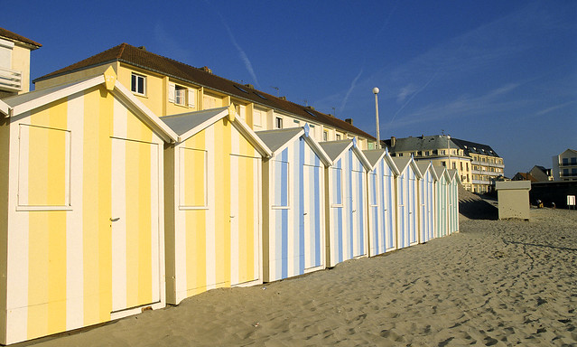 Fort-Mahon, plage, cabines