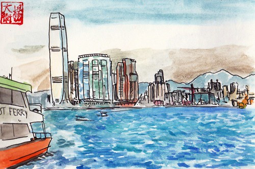 Hong Kong Harbour by david.jack