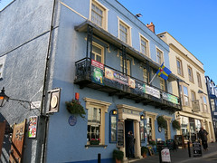 Photo of Tenby House, William Paxton, John Wesley, and Globe Inn, Tenby blue plaque