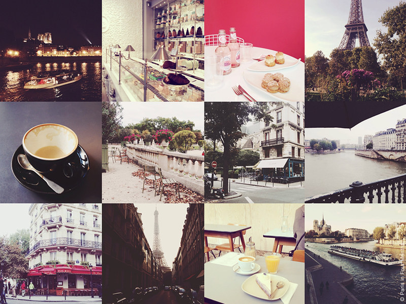 Paris in Four Months on Instagram