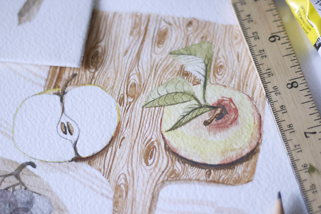 apples and pears illustration