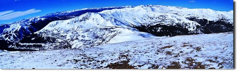 Loveland Pass  Point 12,915' 遠眺南、西、北向 1