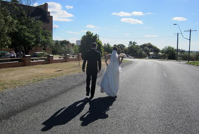 The wedding, Rutherglen