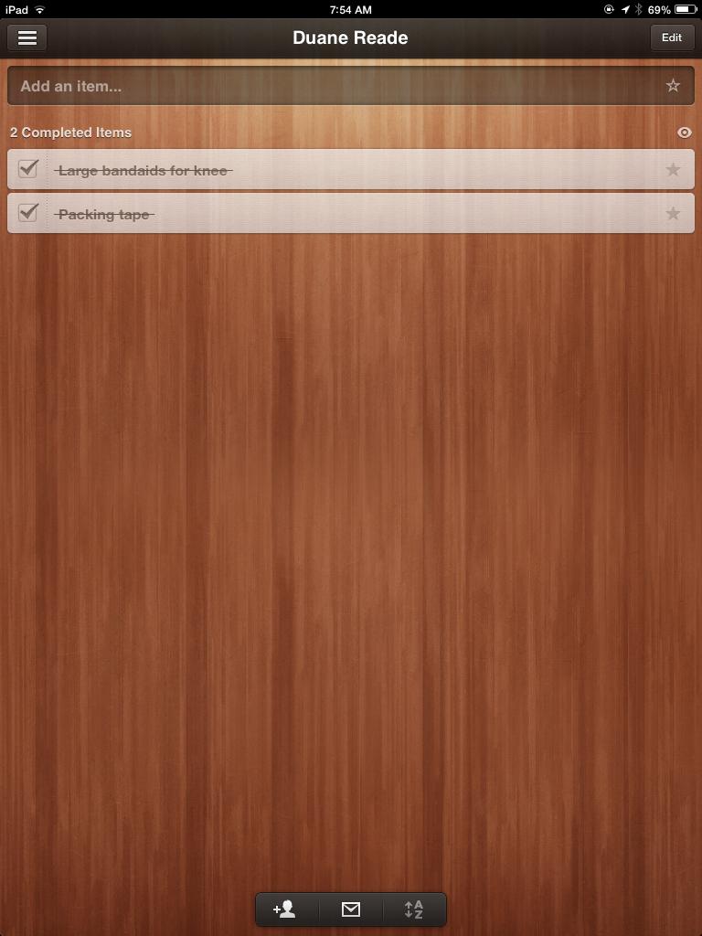Wunderlist iOS