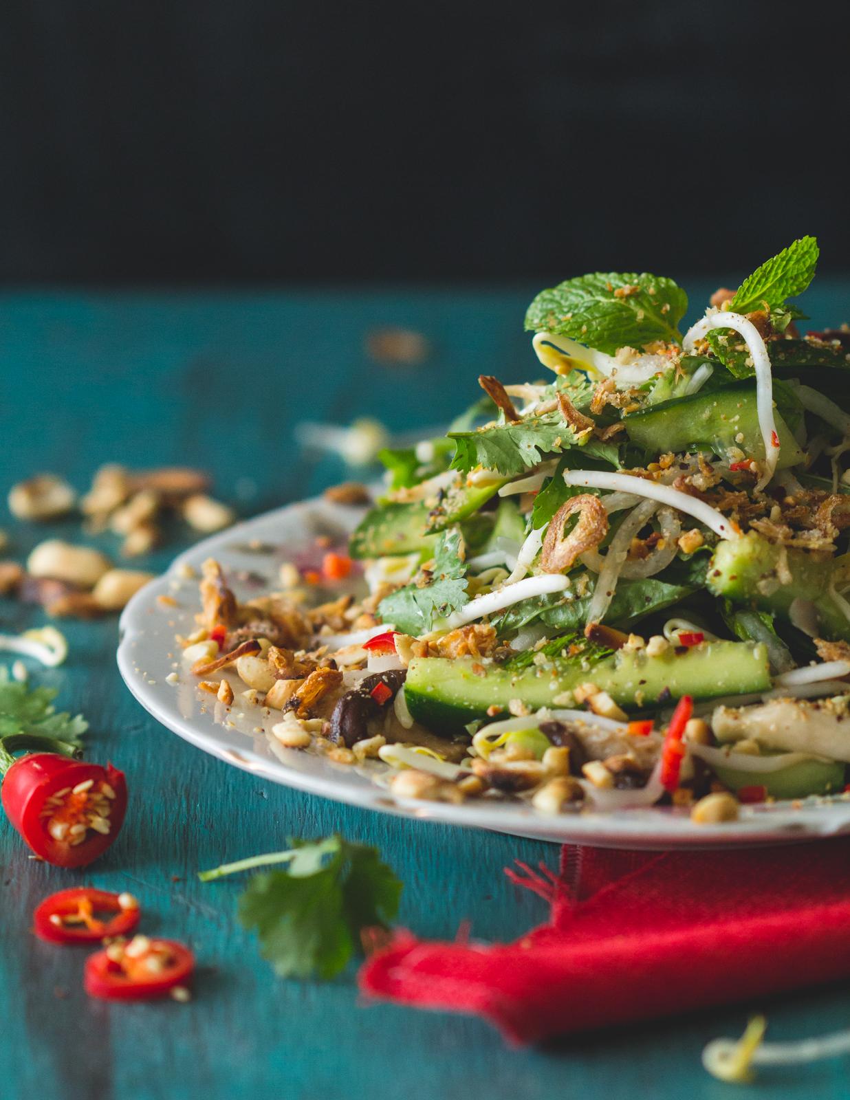 Vietnamese Style Mushroom Salad.