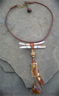 Rust Amulet Necklace by Maggie Zee