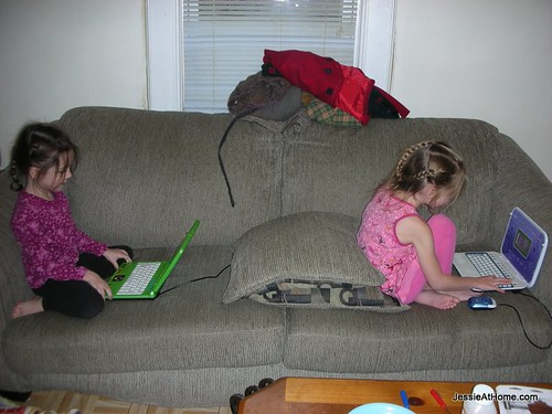 playing-with-leapfrog-laptops