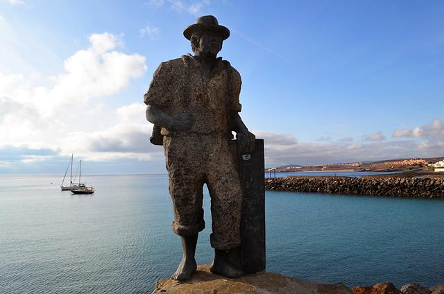 Pescador de Viejas, Puerto del Rosario, Fuerteventura