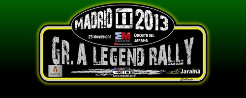 Placa del 2º Rally Legend Grupo A