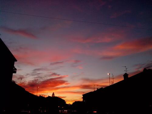 """Il bel tramonto """"rosso"""" di questa sera by Ylbert Durishti"""