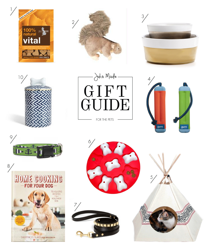 Julip Made 2013 holiday gift guide for the pets