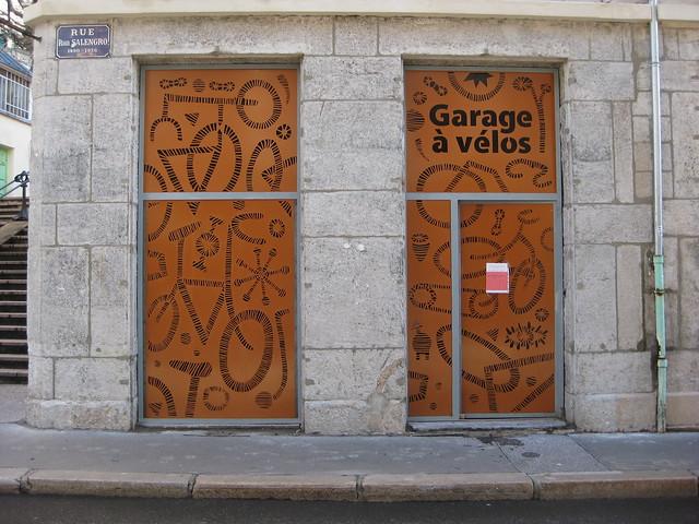 garage à vélos du crêt de roch