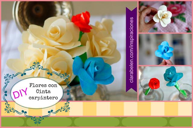 Rosas con cinta adhesiva