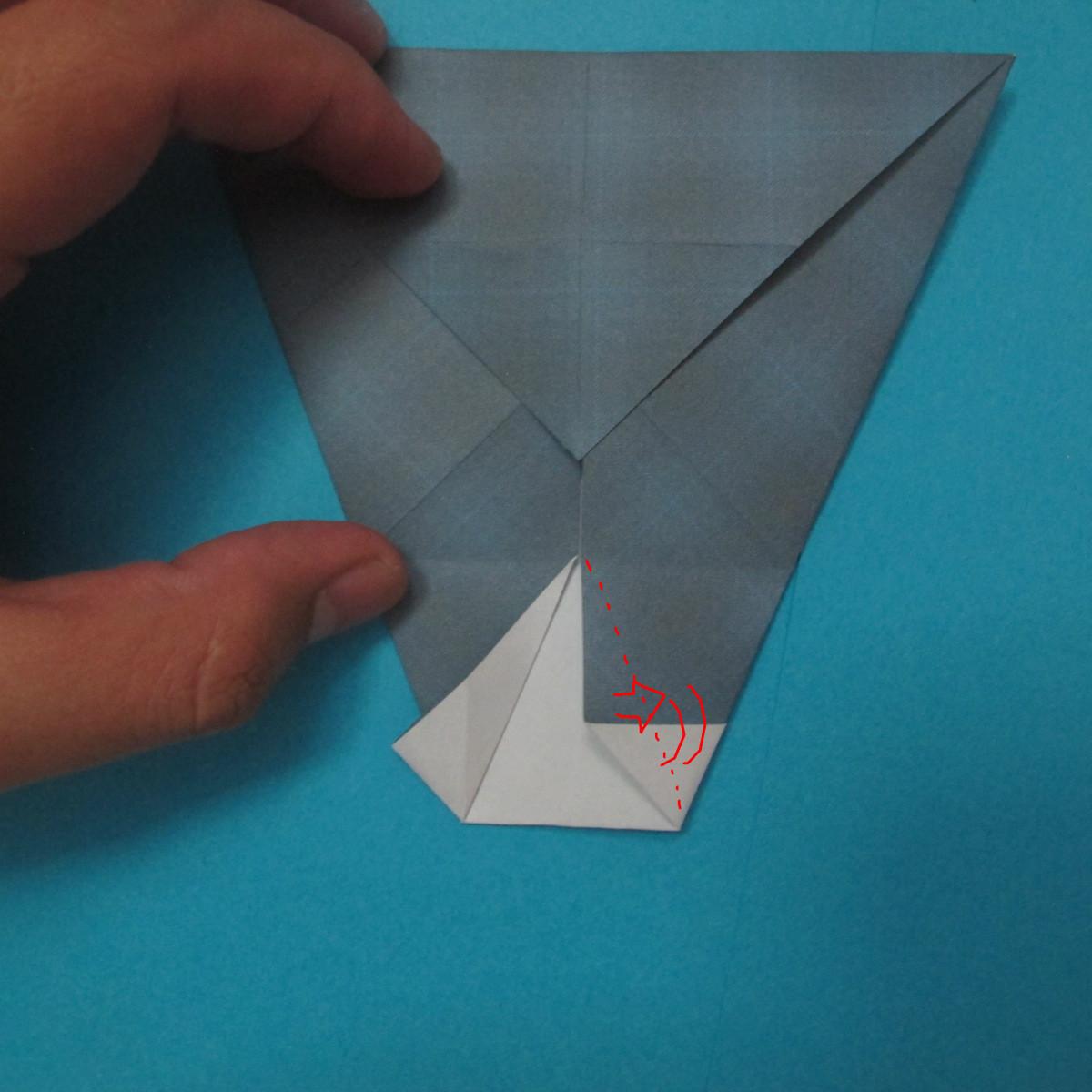 วิธีการพับกระดาษเป็นรูปนกเค้าแมว 011