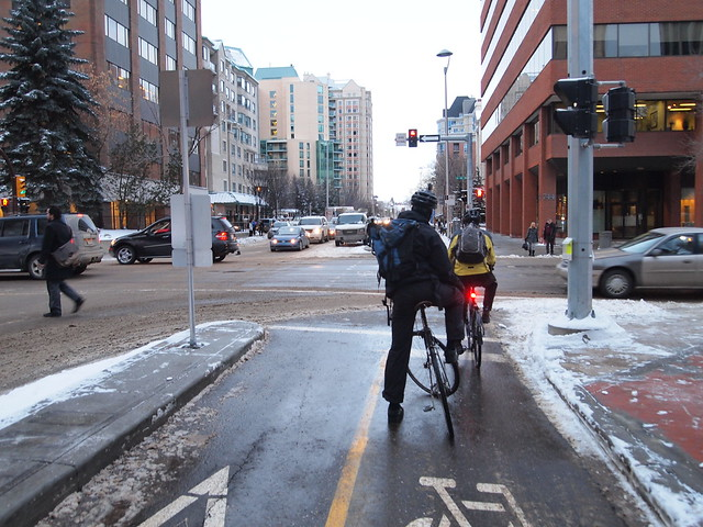 Winter bicycle commuting in Calgary