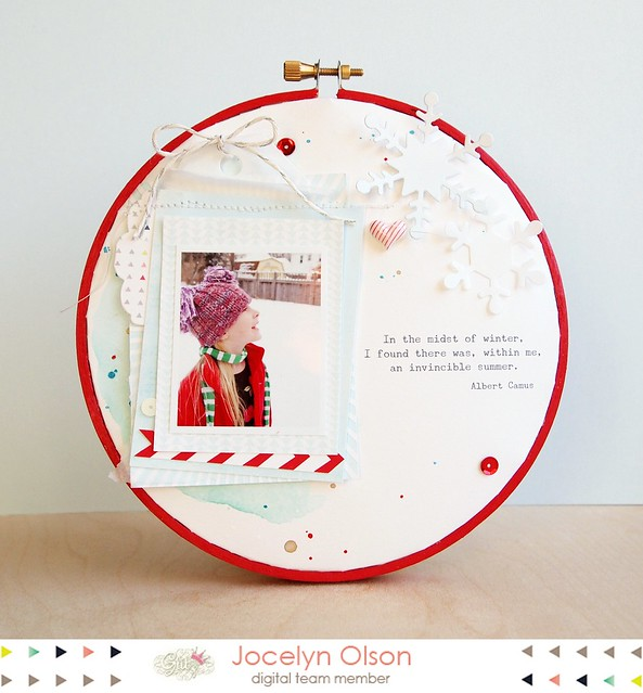 Glitz Winter Hoop