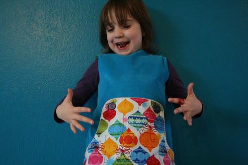 Louisa kleedje voor Silke