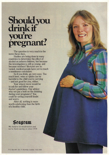 Vintage Ad: Should You Drink if You're Pregnant?